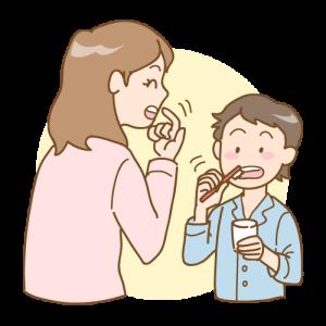 歯ブラシ指導 染め出し