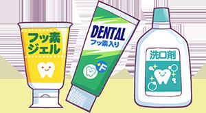 フッ素入りの歯磨き剤